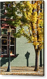 Autumn Detail In Old Town Grants Pass Acrylic Print by Mick Anderson
