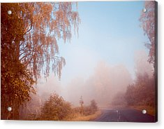 Autumn Fairytale. Misty Roads Of Scotland  Acrylic Print by Jenny Rainbow