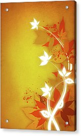 Autumn Floral Illustration Acrylic Print