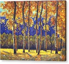 Autumn Glow Acrylic Print by Connie Tom
