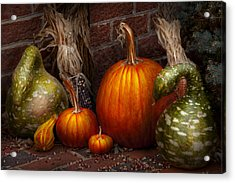Autumn - Gourd - Family Get Together Acrylic Print by Mike Savad