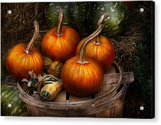 Autumn - Gourd - Pumpkins And Some Other Things  Acrylic Print by Mike Savad