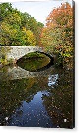 Autumn In Blackstone Valley Acrylic Print