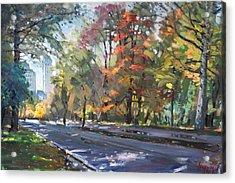Autumn In Niagara Falls Park Acrylic Print by Ylli Haruni