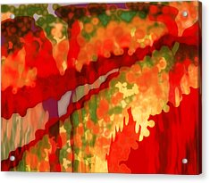 Autumn In The Piedmont Acrylic Print by Patricia L Conklin
