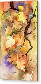 Autumn Leaves Acrylic Print by Mary Kay Holladay