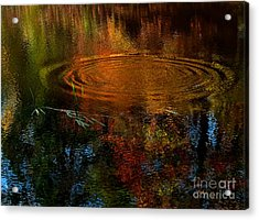 Autumn Leaves Were Turning Acrylic Print