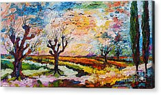Autumn Migration Landscape  Acrylic Print by Ginette Callaway