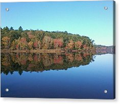 Autumn Mirror Acrylic Print by Edwin Alverio