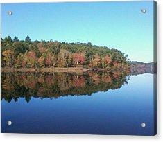 Autumn Mirror Acrylic Print by Edwin Alverio