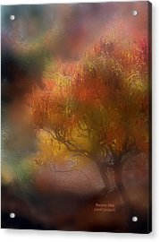 Autumn Mist Acrylic Print by Carol Cavalaris