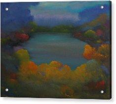 Autumn Mist Acrylic Print by David Snider