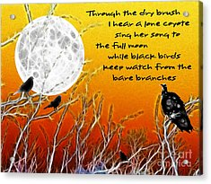 Autumn Moon Acrylic Print by Methune Hively