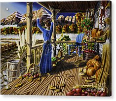 Autumn Morning Acrylic Print by Robert Thornton