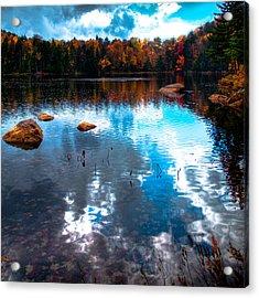 Autumn On Cary Lake Acrylic Print by David Patterson