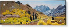 Autumn On The Road Less Traveled Acrylic Print