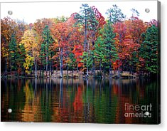 Autumn Reflected  Acrylic Print by Linda Mesibov