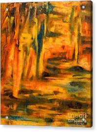 Autumn Reflection In The Water Acrylic Print