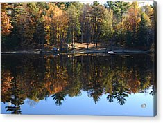 Autumn Reflections Acrylic Print by Kim French