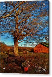 Autumn Rest Acrylic Print by Diane E Berry