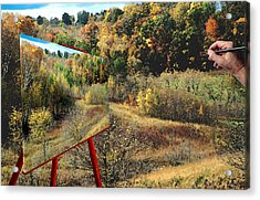 Autumn Roads Acrylic Print
