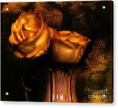 Autumn Roses Acrylic Print by Marsha Heiken
