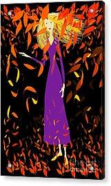 Acrylic Print featuring the digital art Autumn Spirit by Barbara Moignard