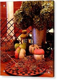 Autumn Still Life  2 Acrylic Print by Tanya  Searcy