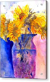 Autumn Suflowers Acrylic Print
