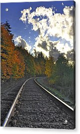 Autumn Tracks Acrylic Print
