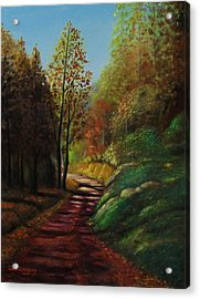 Autumn Trail Acrylic Print by Gene Gregory