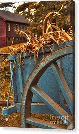 Autumn Wagon Acrylic Print by Joann Vitali
