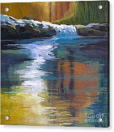 Autumnal Reflections Acrylic Print by Melody Cleary