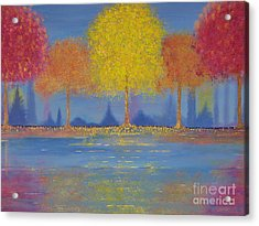 Acrylic Print featuring the painting Autumn's Bliss by Stacey Zimmerman