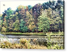 Autumn's Brush At The Red Ant Fort Acrylic Print by Christine Segalas