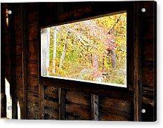 Autumn's Window Acrylic Print
