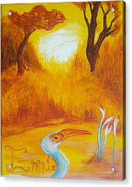 Acrylic Print featuring the painting Autumnul Mother Evening by Christophe Ennis