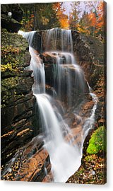 Avalanche Falls - Franconia Notch Acrylic Print by Thomas Schoeller