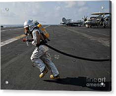 Aviation Boatswain's Mate Carries Acrylic Print by Stocktrek Images
