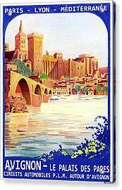 Avignon Deco Acrylic Print by Lyle Brown