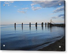 Awaiting The Ferry Acrylic Print by Tiffany Ball-Zerges