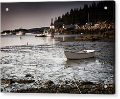 Awaiting The Tide Acrylic Print by Don Powers