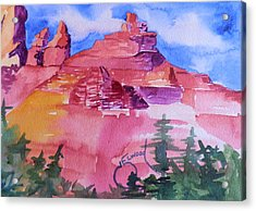 Awesome Red Mountains Acrylic Print