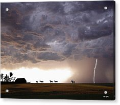 Awesome Storm Acrylic Print by Bill Stephens