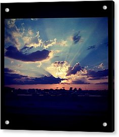 Awesome #sunset Yesterday. #sky #wow Acrylic Print