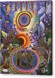 Acrylic Print featuring the painting Ayahuasca Raura  by Pablo Amaringo