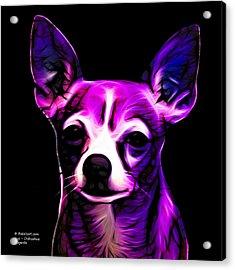 Aye Chihuahua - Magenta Acrylic Print