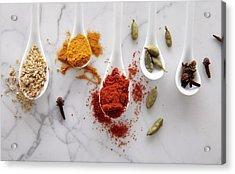 Ayurvedic Warming Spices Acrylic Print by Shana Novak
