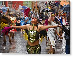 Acrylic Print featuring the photograph Aztec Dancer - San Miguel De Allende by Craig Lovell