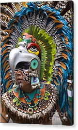 Acrylic Print featuring the photograph Aztec Eagle Dancer - Mexico by Craig Lovell